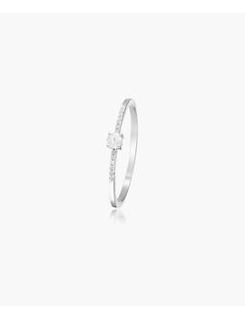 My World 0.1ct Diamond White Gold Ring by Diamond & Co.