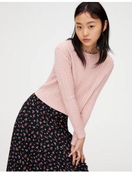 Sweater Básica Em Malha De Cabo by Pull & Bear