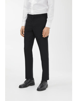 Wool Tuxedo Trousers by Arket