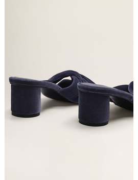 Sandały Aksamitne Z Węzłem by Mango