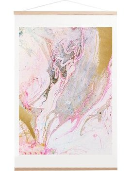 Pink/Gold/Blue 'winter Marble' Graphic Art Print by Willa Arlo Interiors