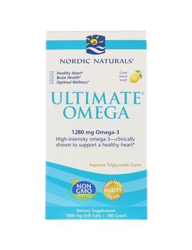 Nordic Naturals, Ultimate Omega, Lemon, 1,280 Mg, 180 Soft Gels by Nordic Naturals