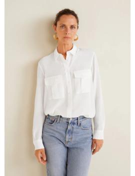 Струящаяся рубашка с карманами by Mango