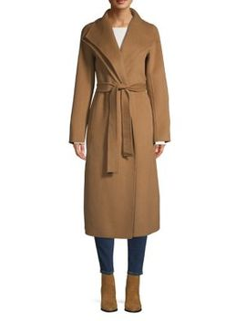 Double Wing Collar Wrap Coat by Tahari