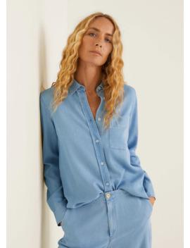 Рубашка из лиоцелла с карманами by Mango