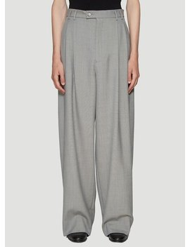 Wide Leg Pants In Grey by Gucci