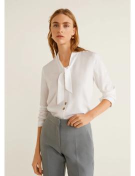 Рубашка с лентой by Mango