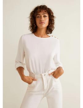 Блузка с пуговицами by Mango