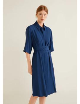 Платье рубашка с поясом by Mango