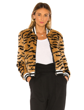 Jack By Bb Dakota Tiger Beat Faux Fur Bomber Jacket by Bb Dakota