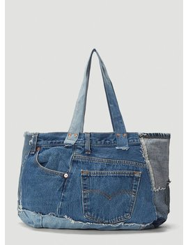 The Patchwork Tote In Blue by Bonum