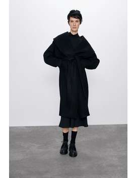 Coat With A Wide Collar by Zara