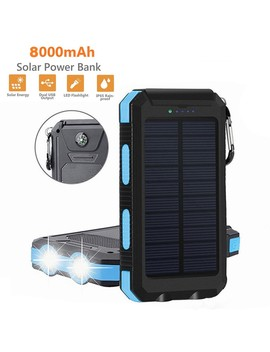 25#Power Bank Waterproof Dual Usb Portable 8000m Ah Solar Charger Solar Power Bank For Phone Compass Charge Charging Treasure by Ali Express.Com