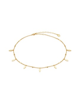 Hammered Leaf Choker Necklace by Missoma