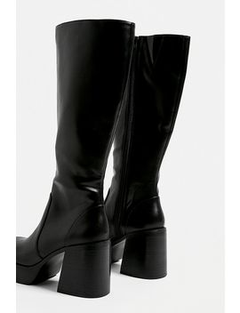 Uo Lea Knee High Platform Boots by Urban Outfitters