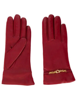 Heart Chain Gloves by Escada