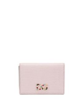 Dauphine Embellished Logo Cardholder by Dolce & Gabbana