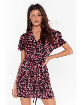 Tie As You Might Floral Mini Dress by Nasty Gal