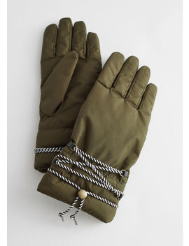 Padded Nylon Gloves by & Other Stories