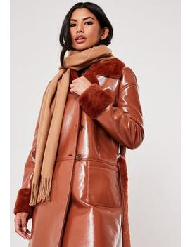 Camel Blanket Scarf by Missguided