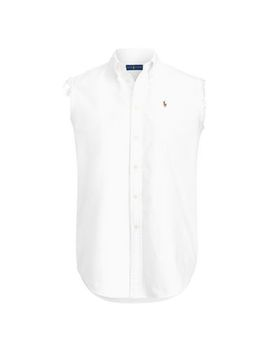 Frayed Sleeveless Oxford Shirt by Polo Ralph Lauren