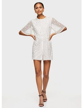 White Embellished Playsuit by Miss Selfridge