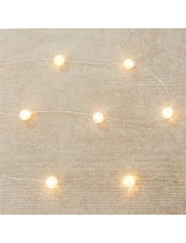 """Crackled Bead Led 30 Light Indoor/Outdoor Strand – Warm White, 120"""" by Indigo"""