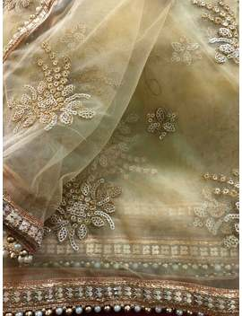 Indian Golden Color Dupatta For Women Embroidered Dupatta Party Wear Chunni For Indian Functions Designer Dupatta For Wedding With Zari Work by Etsy