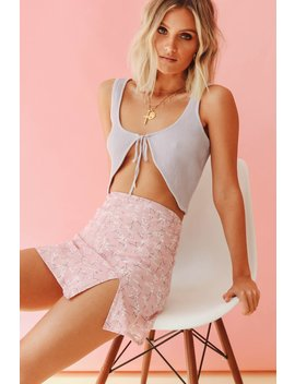 Moment In The Sun Tie Front Crop // Lilac by Vergegirl