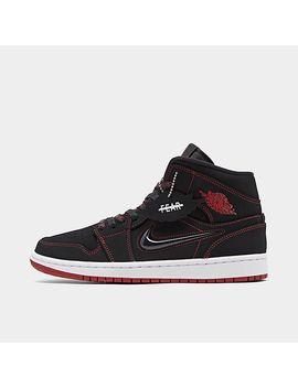 Men's Air Jordan Retro 1 Mid Fearless Casual Shoes by Nike