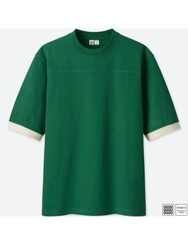 Men Uniqlo U Colour Block Short Sleeve T Shirt by Uniqlo