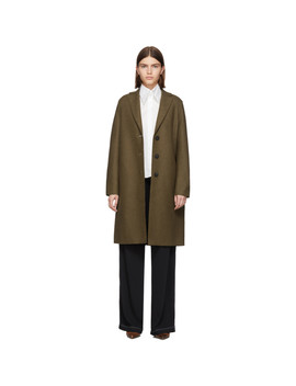 Brown Pressed Wool Coat by Harris Wharf London