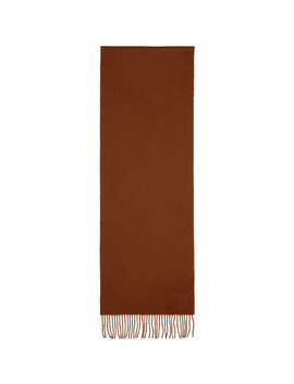 Red Wool Fringe Scarf by Max Mara