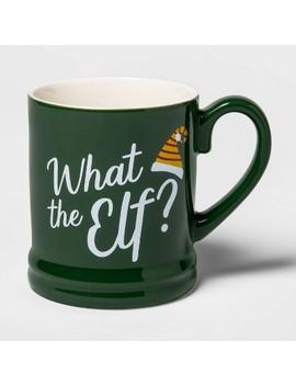 16oz Stoneware What The Elf Mug Green   Threshold™ by Threshold