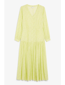 V Neck Prairie Dress by Monki