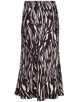 Sara Satin Slip Midi Skirt by Mint Velvet