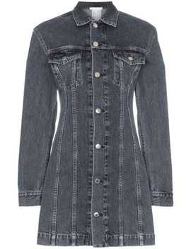 Collared Denim Mini Dress by Helmut Lang