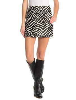 Zebra Mini Skirt by Frame Denim