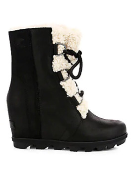 Joan Of Arctic Shearling Trim Wedge Ii Boots by Sorel