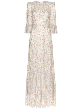 Fairy Festival Floral Print Maxi Dress by The Vampire's Wife