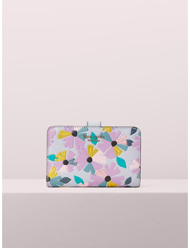 Spencer Glitter Floral Compact Wallet by Kate Spade