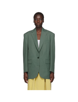 Blouson Vert Jilly Suiting by Acne Studios