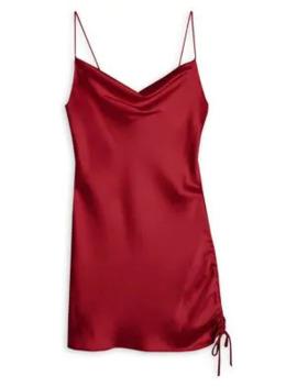 Satin Ruched Mini Slip Dress by Topshop