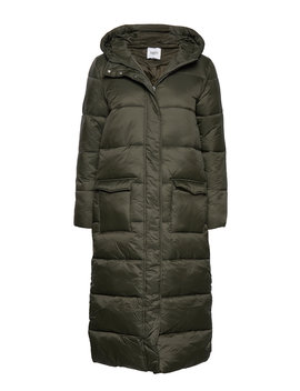 R7022, Long Padded Jacket With Hood by Saint Tropez