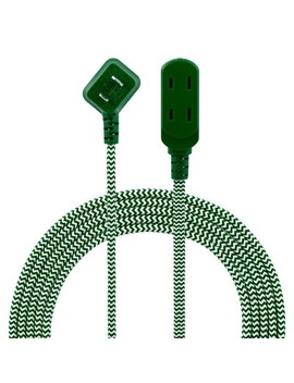 Philips 8' 3 Outlet Polarized Extension Cord Indoor Green/White by Philips