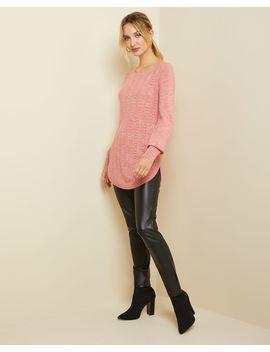Spongy Knit Ballerina Neck Tunic Sweater by Rw & Co