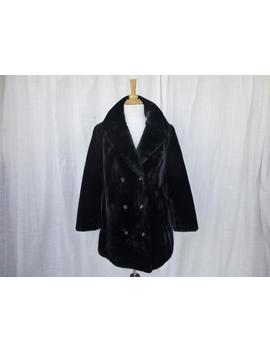 Vintage 70s Russel Taylor Borgazia Faux Fur Coat Jacket M/L Black Lush Princess Ulster Collar Double Breast Retro Hipster Mod Boho Glam Garb by Etsy