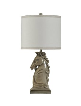 "Maines Ceramic Horse Head 34"" Table Lamp by Charlton Home"