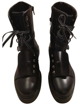 Black Combat Boots/Booties by Valentino