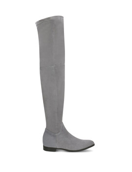 Dark Grey Suede Over The Knee Boots by Gino Rossi